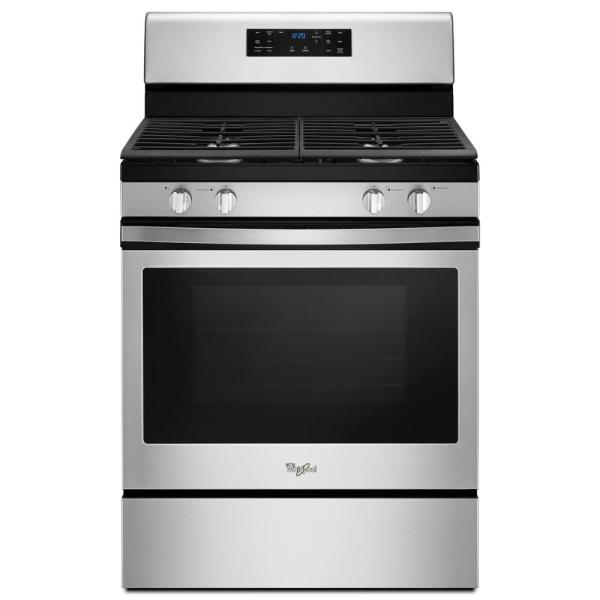 Whirlpool 5.0 cu. ft. Gas Range Convection in Stainless Steel