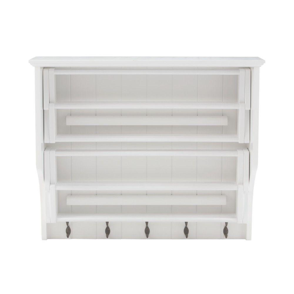 Home Decorators Collection Madison 30 In H White Accordion Wall Mounted Laundry Drying Rack With