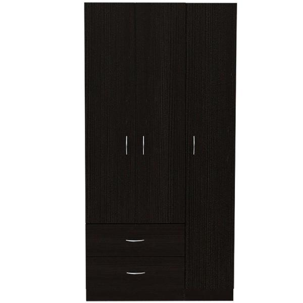 Austral Espresso Armoire with 3-Doors (71.1 in. x 35.5 in. x 18.5 in.)