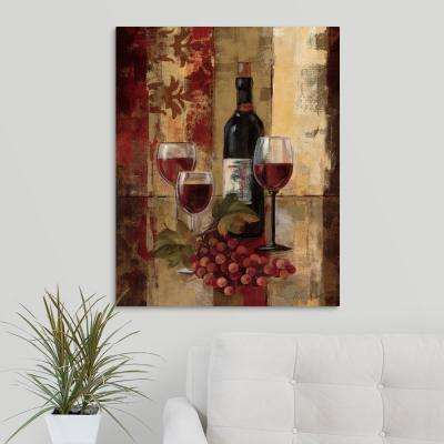 "24 in. x 30 in. ""Graffiti and Wine II "" by  Silvia Vassileva Canvas Wall Art"