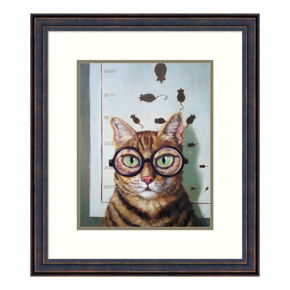 """""""Feline Eye Exam"""" by Lucia Heffernan Framed Wall Art"""