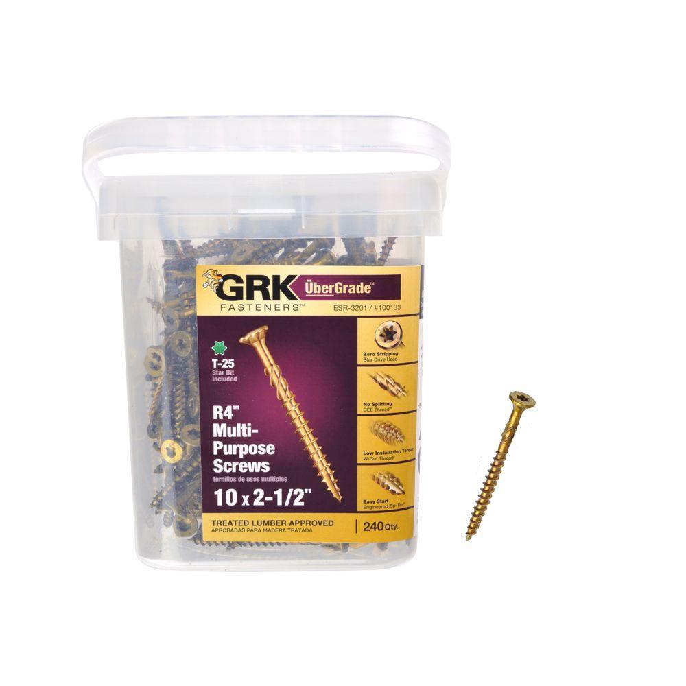 GRK Fasteners #10 x 2-1/2 in. Star Drive Bugle Head R4 Multi ...