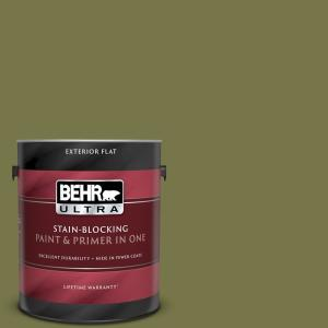 Behr Ultra 1 Gal S340 7a Garnish Flat Exterior Paint And Primer In One 485301 The Home Depot