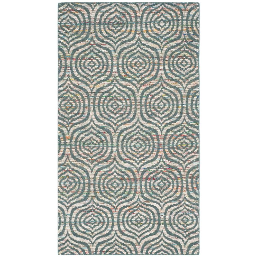 Safavieh Straw Patch Blue/Multi 3 ft. x 5 ft. Area Rug