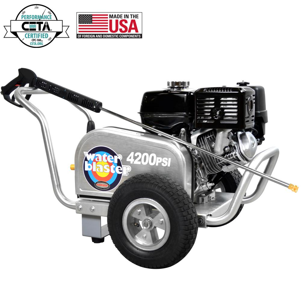 Aluminum WaterBlaster 4200 psi at 4.0 GPM HONDA GX390 with AAA