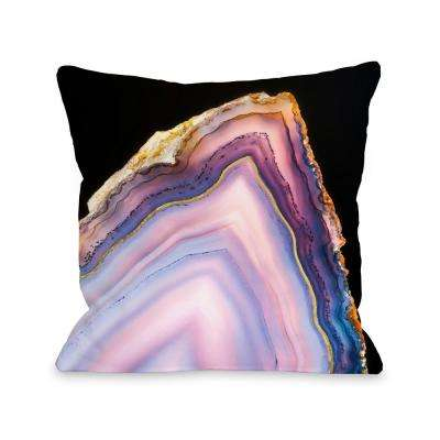 Geode Rainbow Gold 16 in. x 16 in. Decorative Pillow