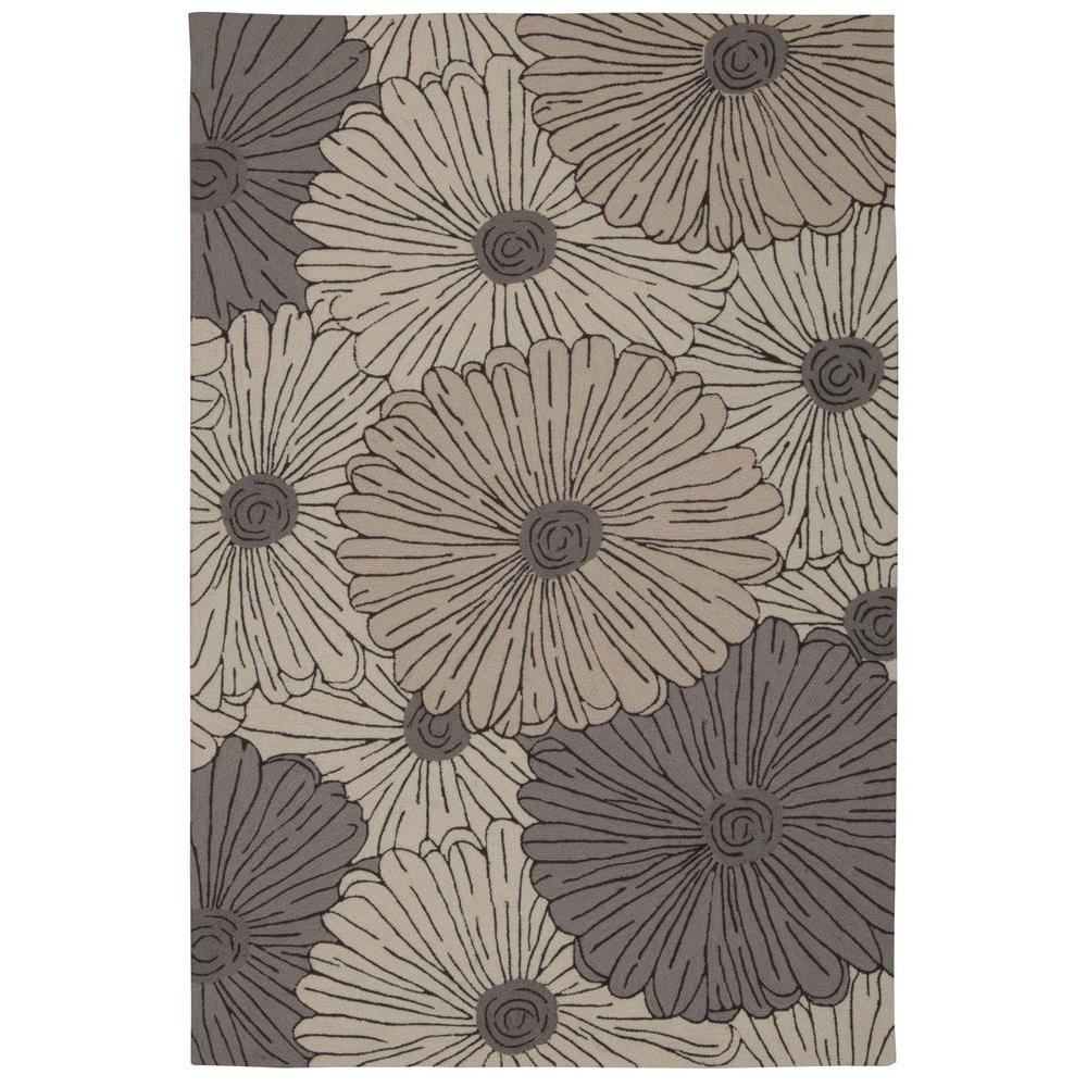 Nourison Fantasy Ivory/Multicolor 3 ft. 6 in. x 5 ft. 6 in. Area Rug