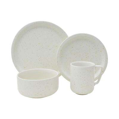 Bryndale 16-Piece White Dinnerware Set