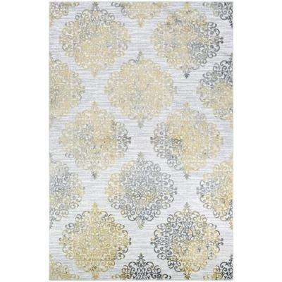 Calinda Montebello Gold-Silver-Ivory 7 ft. x 10 ft. Area Rug