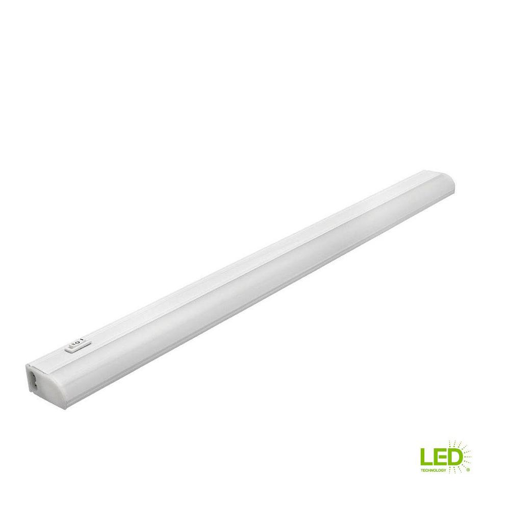 Commercial Electric 24 In Plug In Linkable Undercabinet Led Strip Light With High Off And Low Setting