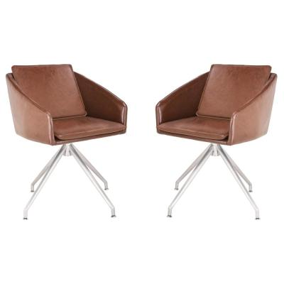Browny Brown Dining Chair (Set of 2)