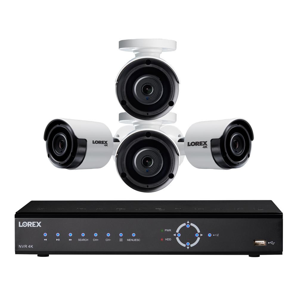 Lorex 8-Channel 4K NVR Surveillance System with 2TB HDD and 4x 4K Bullet  Camera