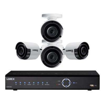 DIY 4K Ultra HD IP NVR security camera system with 2TB HDD and 4 x Weatherproof Indoor/Outdoor 4K Wired IP Bullet Camera
