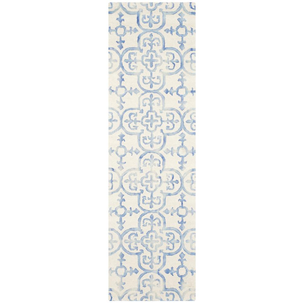 Dip Dye Ivory/Blue 2 ft. 3 in. x 10 ft. Runner
