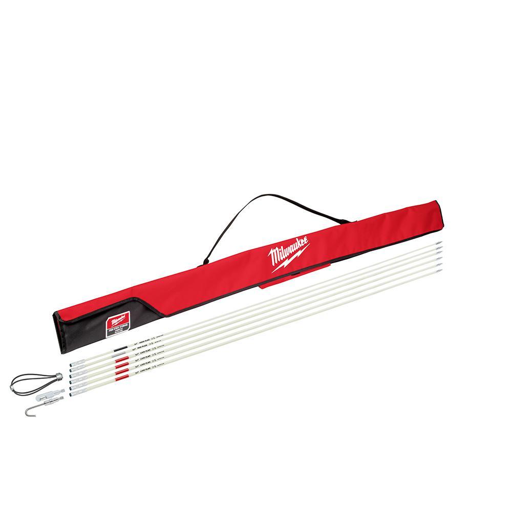 Milwaukee Milwaukee 30 ft. Fiberglass Fish Stick Low/Mid/High Flex Combo Kit with Accessories