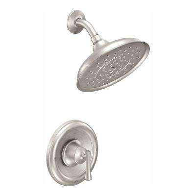 Ashville Single-Handle 1-Spray 1.75 GPM Shower Faucet with Valve in Spot Resist Brushed Nickel (Valve Included)