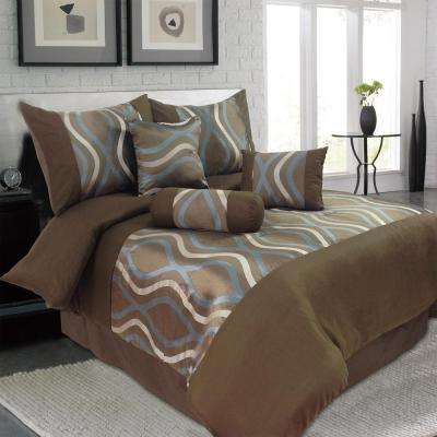 Galina Brown 7-Piece Queen Comforter Set