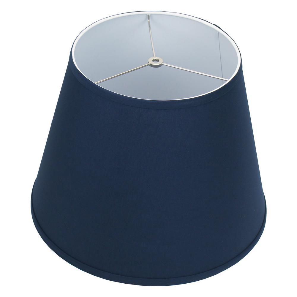 11 in. Top Diameter x 17 in. Bottom Diameter x 13 in. Slant Linen Navy Blue Empire Lamp Shade