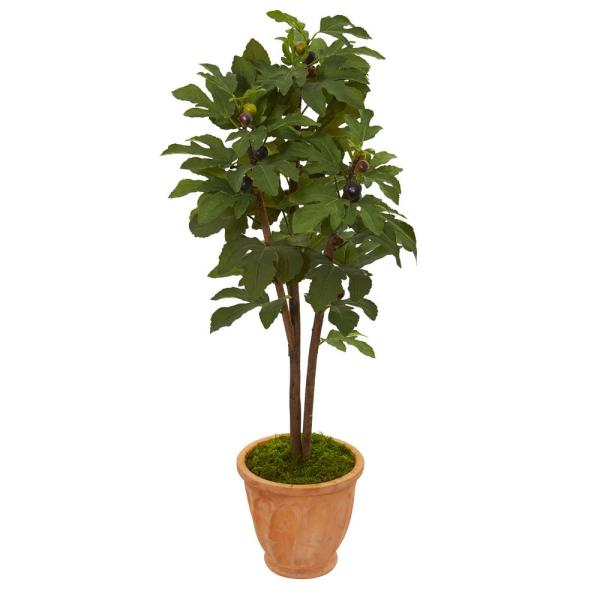 47 in. Fig Artificial Tree in Terra-Cotta Planter