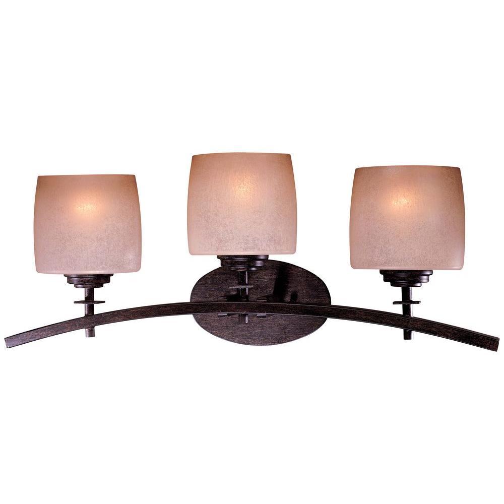 Raiden 3-Light Iron Oxide Bath Light