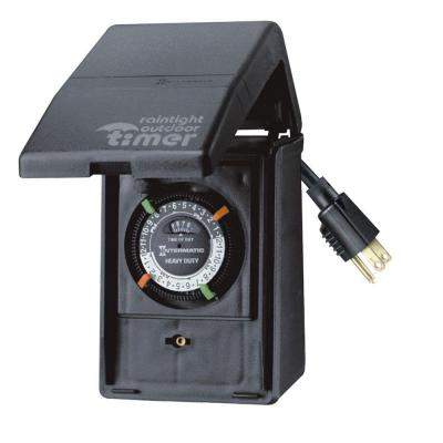15 Amp 24-Hour Outdoor Plug-In Heavy Duty Timer, Black