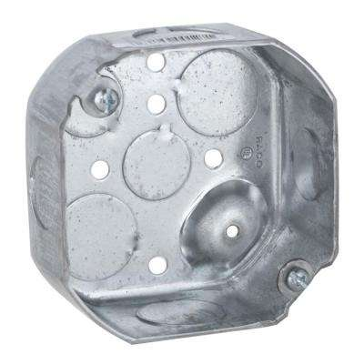 4 in. Drawn Octagon Electrical Box, Raised Ground