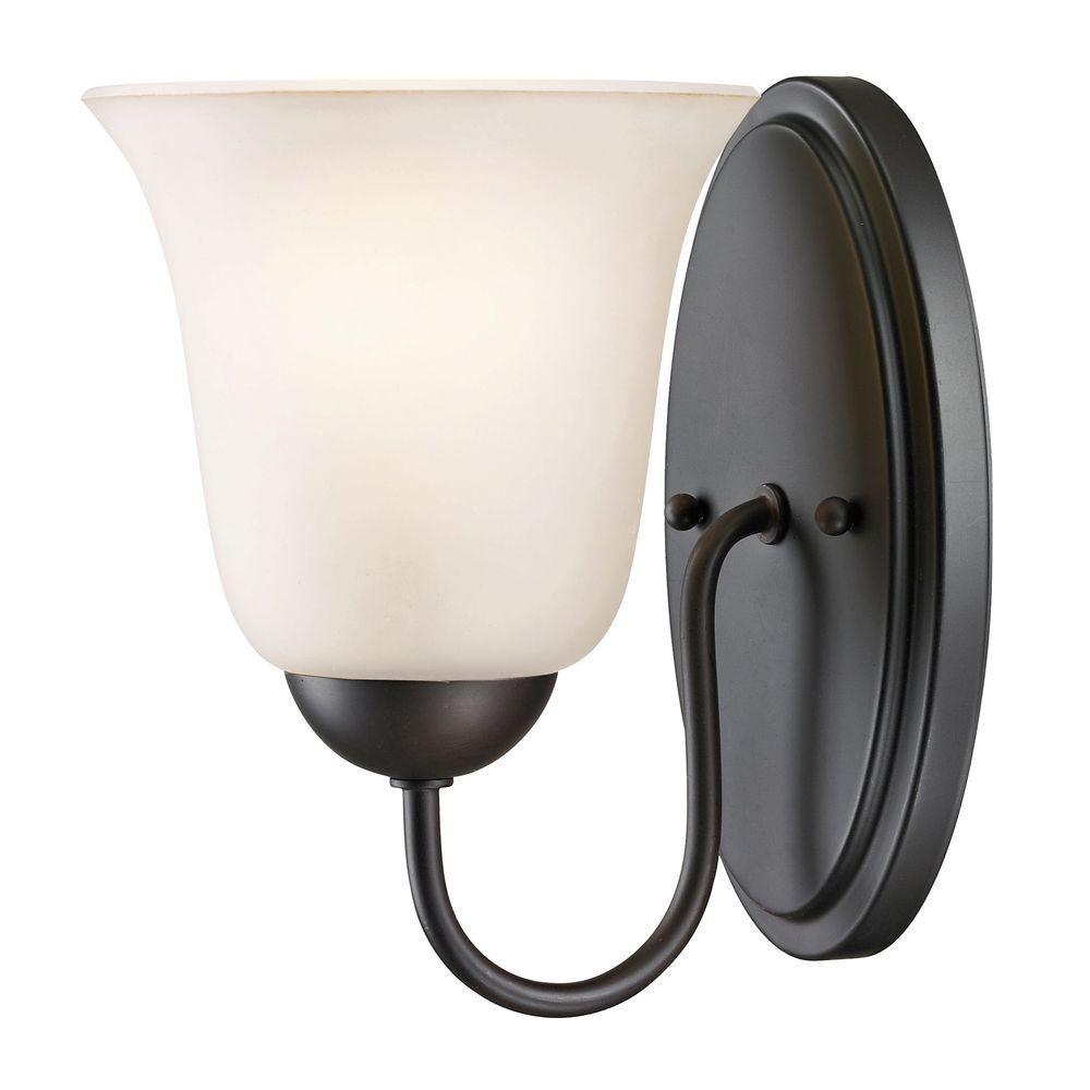 Titan Lighting Conway 1 Light Oil Rubbed Bronze Bath Bar Light Tn 60013 The Home Depot