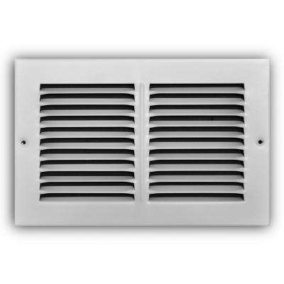 10 in. x 6 in. White Return Air Grille