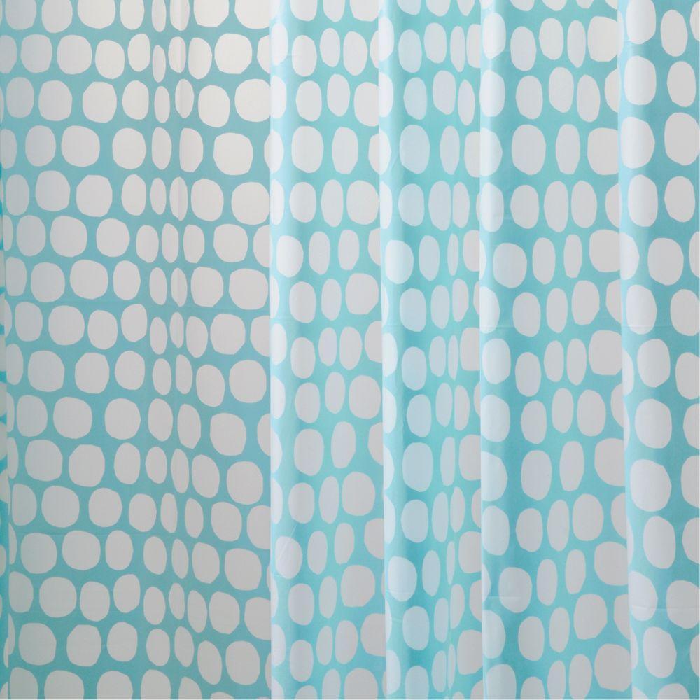aqua honeycomb eva shower curtain