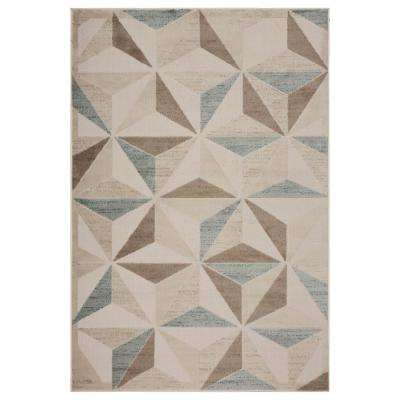 Tranquility Fungi / Light Blue 8 ft. x 9 ft. Indoor Area Rug