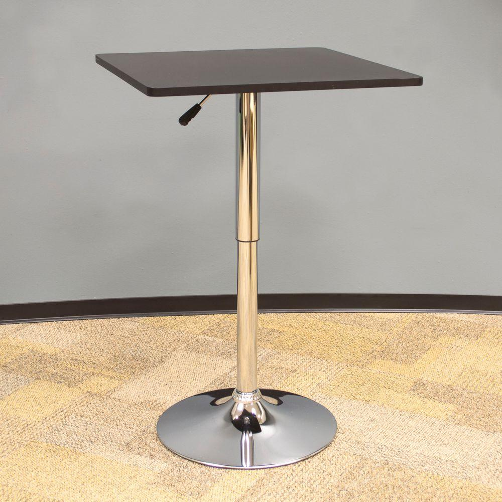 Classic Style 36 in. L Wood Top Square Bistro Table in