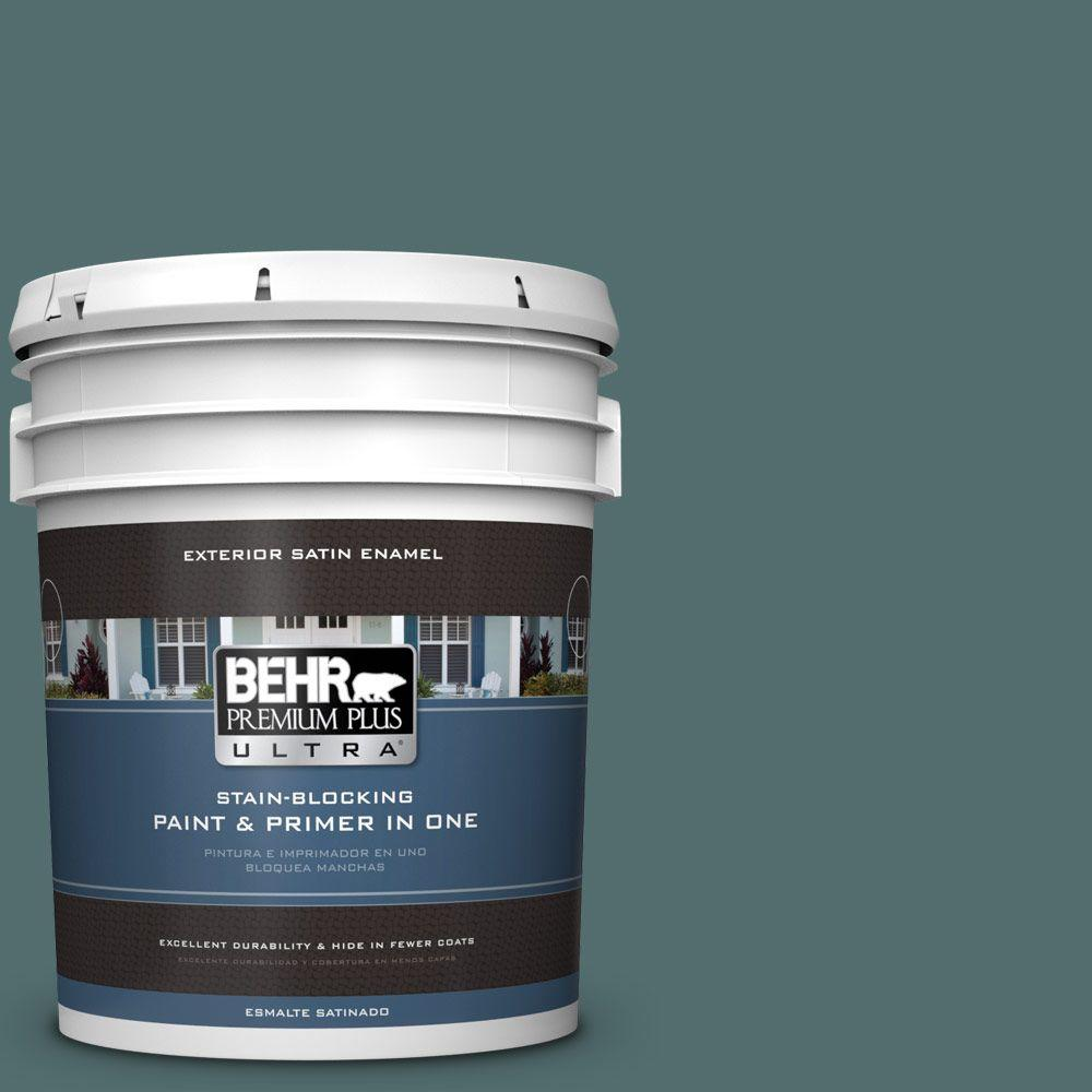 BEHR Premium Plus Ultra 5-gal. #PPU12-2 Sequoia Lake Satin Enamel Exterior Paint