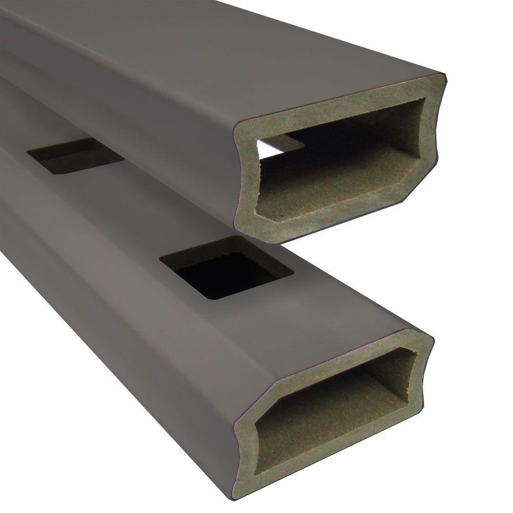 Veranda 1-1/4 in. x 3-1/2 in. x 6 ft. Slate Composite Stair Guard Rail Kit (2-Pack)