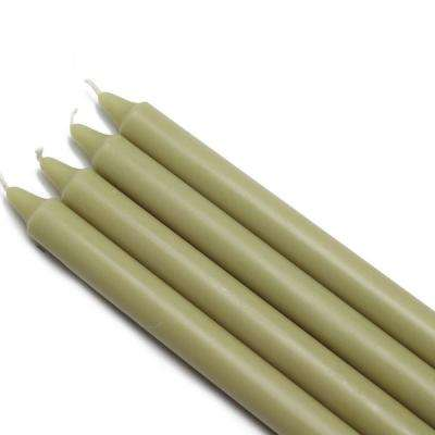 10 in. Sage Green Straight Taper Candles (12-Set)