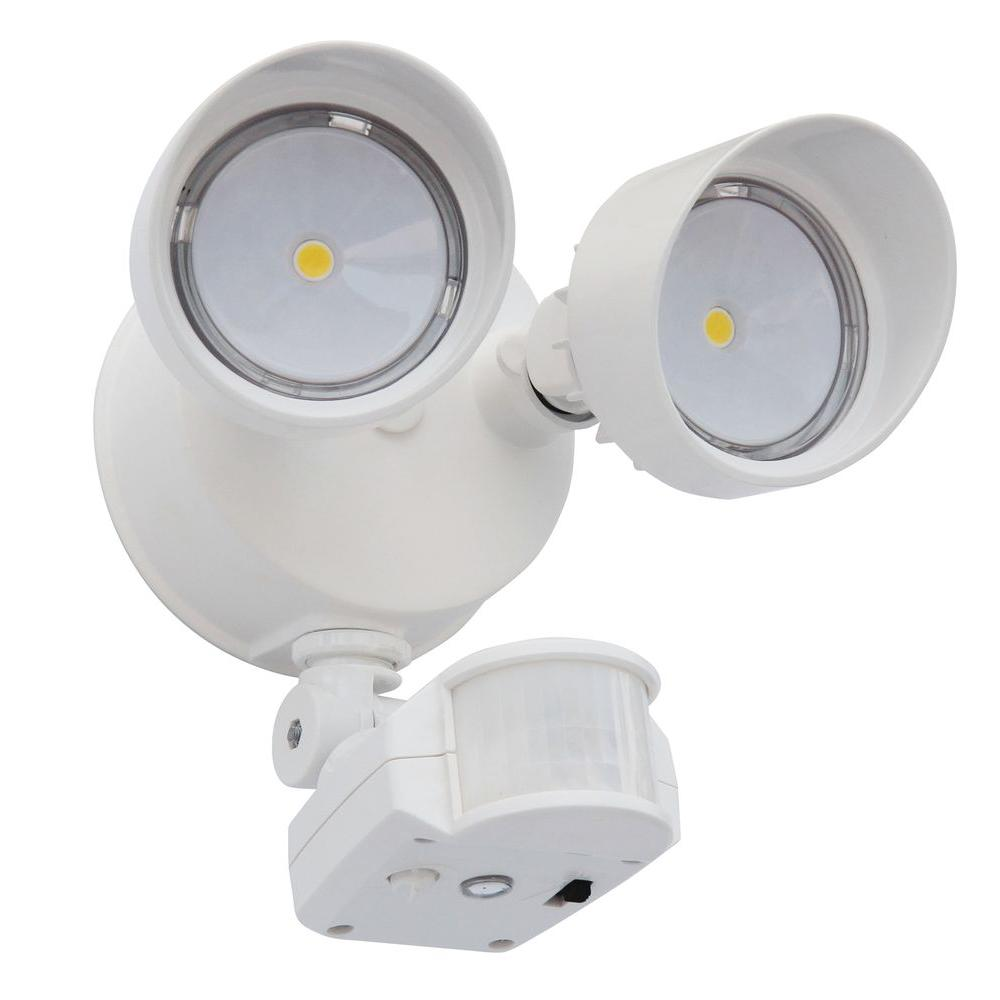 Lithonia Lighting 180° White Motion-Sensing LED Outdoor Security ...