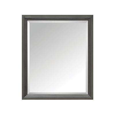 Thompson 28 in. W x 33 in. H Single Framed Mirror in Charcoal Glaze