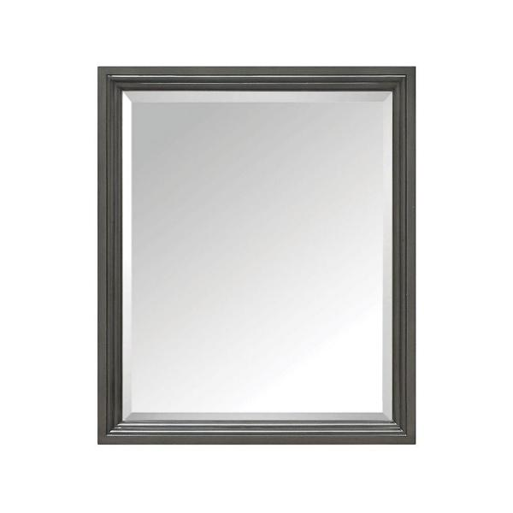 Thompson 28 in. W x 33 in. H Framed Rectangular Beveled Edge Bathroom Vanity Mirror in Charcoal Glaze