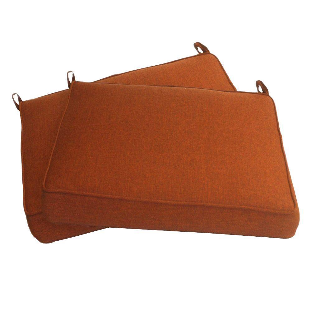 Peak Season Red Solid Chair Seat Cushions (2-Pack)