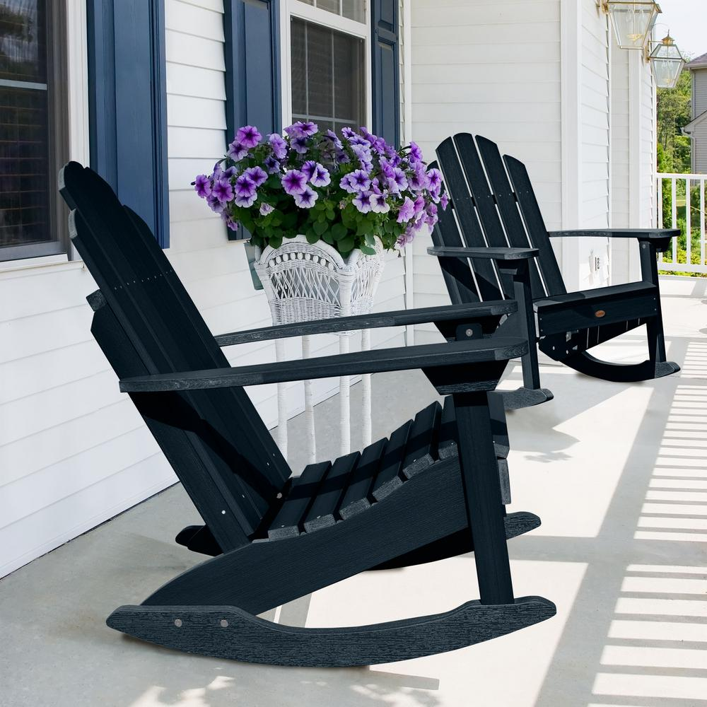 Excellent Highwood Classic Westport Federal Blue Recycled Plastic Outdoor Rocking Chair Pdpeps Interior Chair Design Pdpepsorg