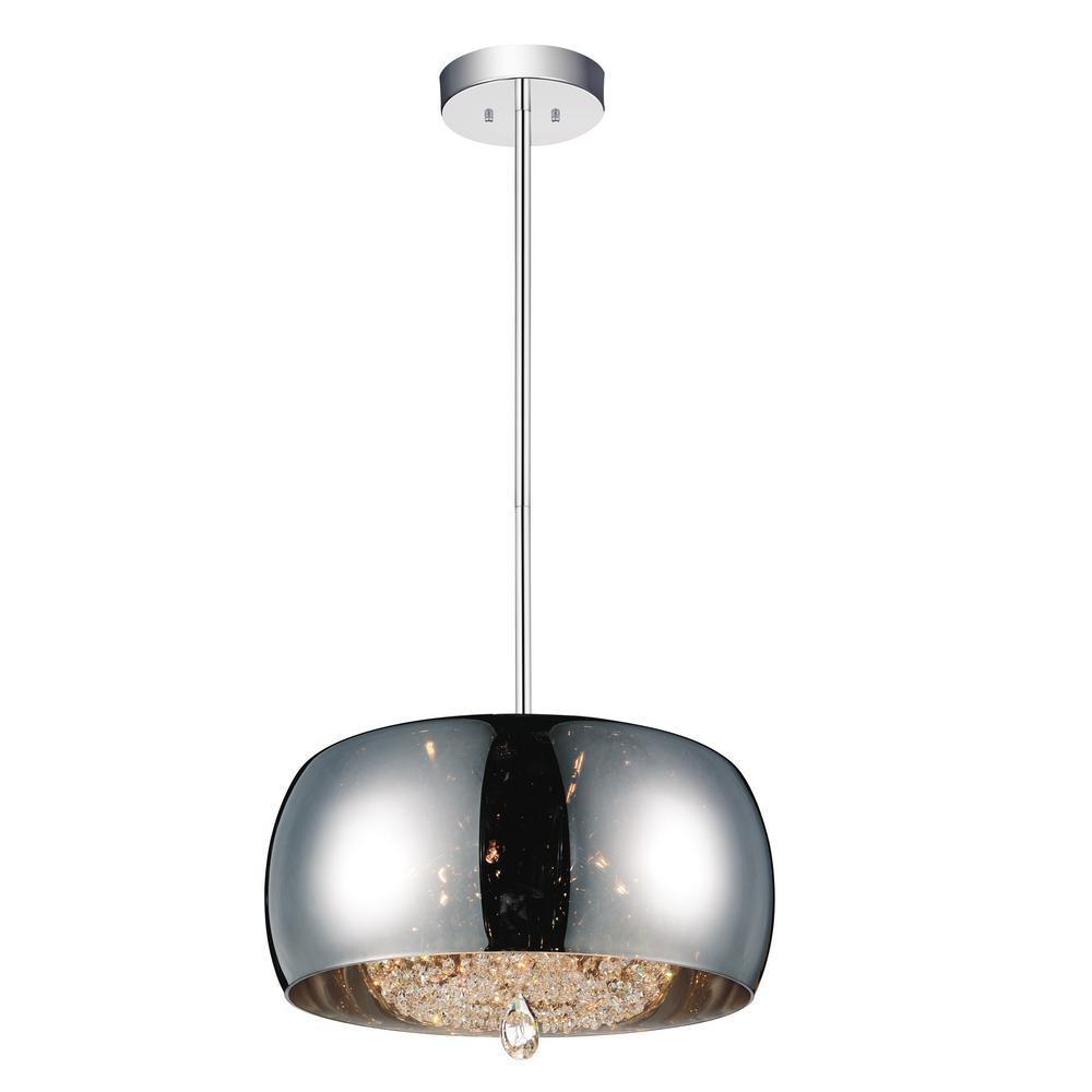 CWI Lighting Movement 6-Light Chrome Chandelier with Smoke shade