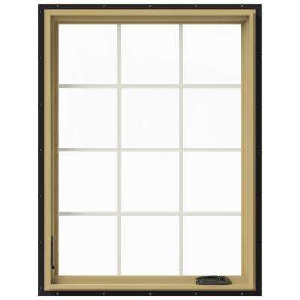 36 in. x 48 in. W-2500 Left Hand Casement Aluminum Clad Wood Window