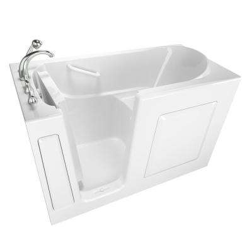Value Series 60 in. Left Hand Walk-In Bathtub in White