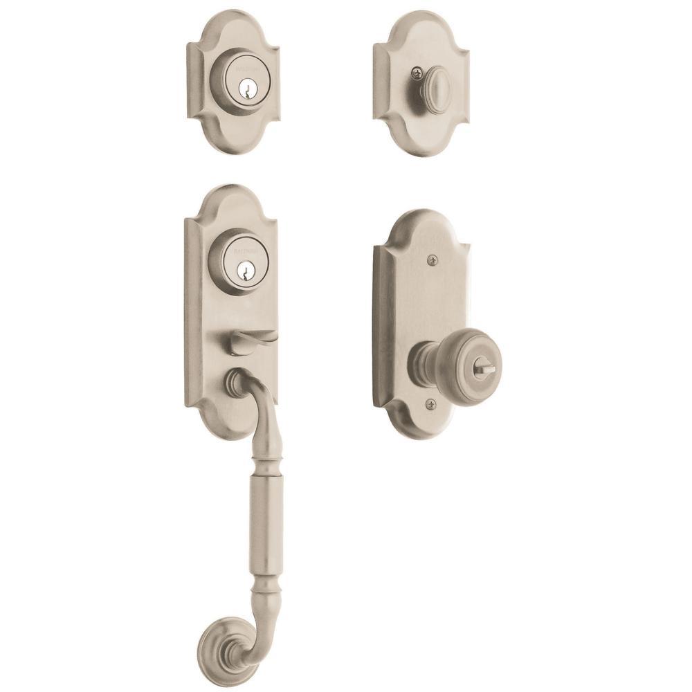 Ashton Satin Nickel Single Cylinder Door Handleset