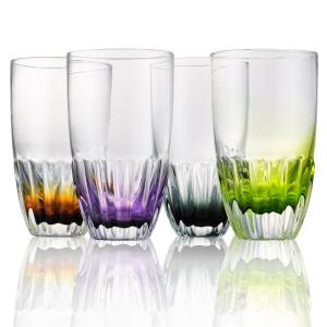 Assorted Colors Solar Highball Glasses (Set of 4)