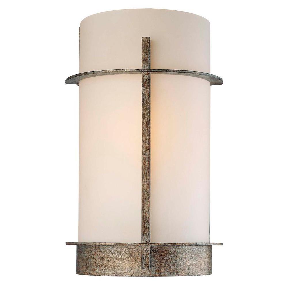 1-Light Aged Patina Iron Wall Sconce