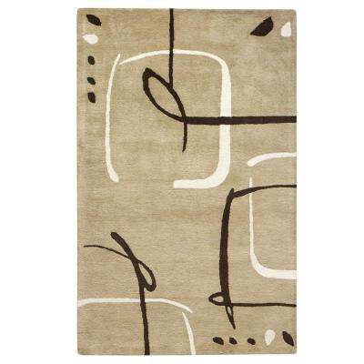 Fragment Dark Sand 4 ft. x 6 ft. Area Rug