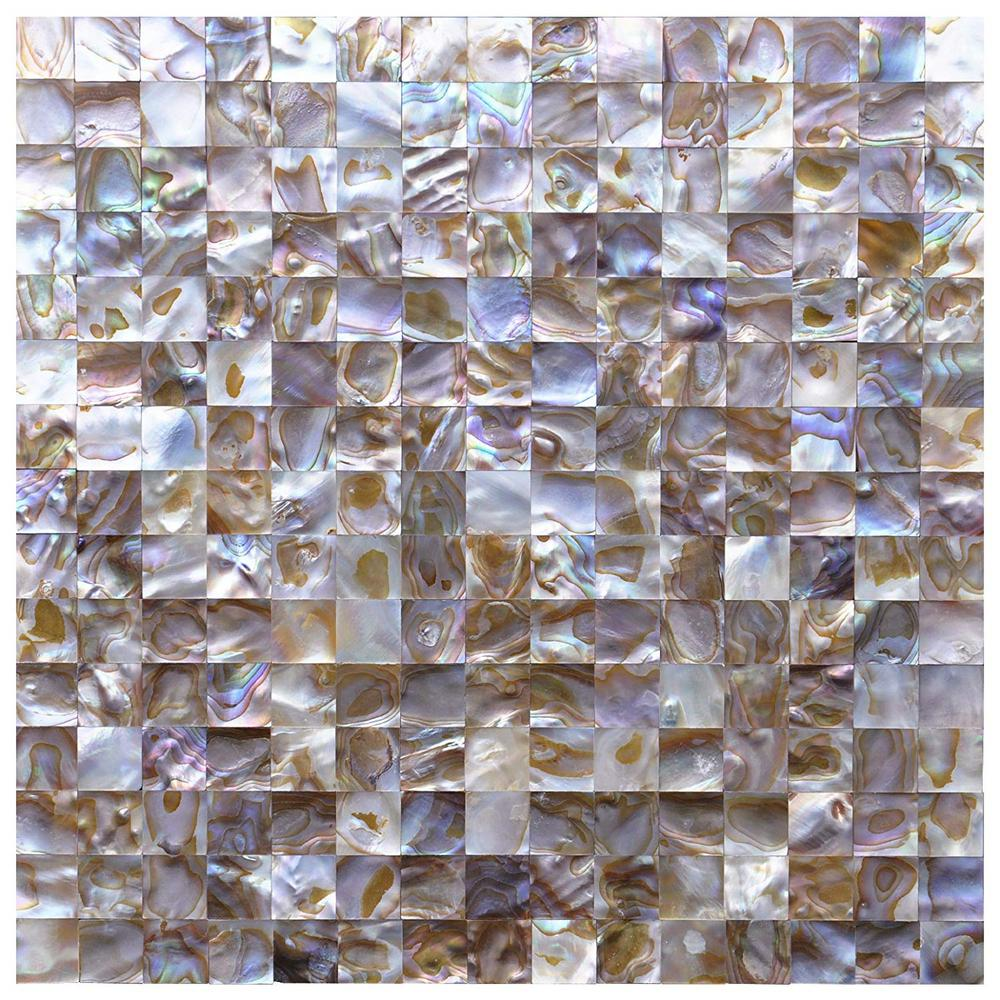 Art3d 12 In. X 12 In. Colorful Mother Of Pearl Backsplash