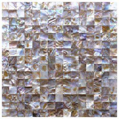 12 in. x 12 in. Colorful Mother of Pearl Backsplash Mosaic Tile