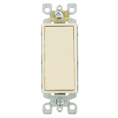Decora 15 Amp Single-Pole AC Quiet Switch, Light Almond (10-Pack)
