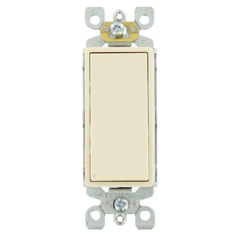 Decora 15 Amp Single-Pole AC Quiet Switch, Light Almond (10-Pack)